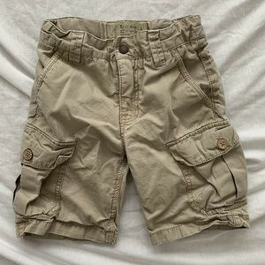 Youth Boy's Lucky Brand Beige Cargo Shorts Size 5